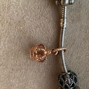 Pandora gold crown charm